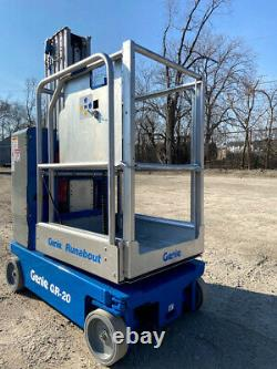 2012 Genie Gr-20 Personal Run About Manlift Compact Vertical Genie Lift