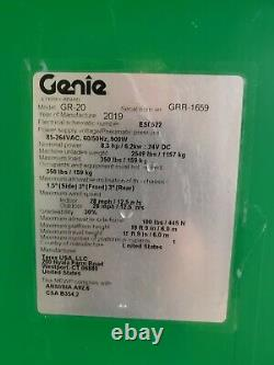 2019 Genie GR20 Scissor Lift, only 87 hrs. Excellent! READ THE AD