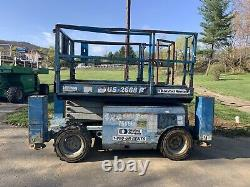 GENIE GS2668RT 4x4 26Ft Compact Rough Terrain Scissor Lift With Outriggers