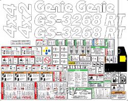 Genie GS-3268 RT Scissor Lift (Complete) Decal Kit SN-42382 to 44988